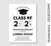 graduation ceremony class of... | Shutterstock .eps vector #1918221044