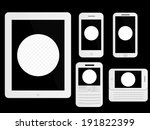 mobile devices with golf ball... | Shutterstock . vector #191822399
