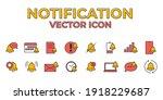 set of notification icon....