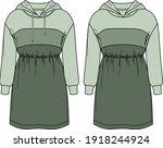 vector sweatshirt dress...   Shutterstock .eps vector #1918244924