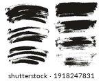 round sponge thin artist brush... | Shutterstock .eps vector #1918247831