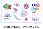 abstract acid shapes. crazy... | Shutterstock .eps vector #1918259147