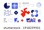 abstract simple shapes. bright... | Shutterstock .eps vector #1918259501