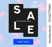 sale trendy social media... | Shutterstock .eps vector #1918279484