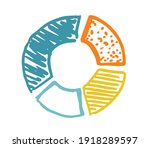 pie diagrams hand drawn icons.... | Shutterstock .eps vector #1918289597