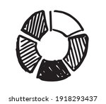 pie diagrams hand drawn icons.... | Shutterstock .eps vector #1918293437