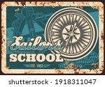 Sailor School Metal Rusty Plate ...