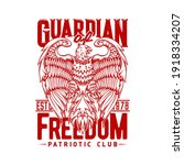 tshirt print with eagle  vector ... | Shutterstock .eps vector #1918334207