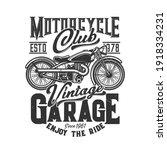 tshirt print with custom bike ... | Shutterstock .eps vector #1918334231