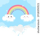 rainbow. background  with...   Shutterstock .eps vector #1918350521