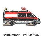 Ambulance Travels At High Speed....