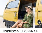 Young Blonde Woman Travelling...