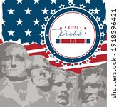 happy president day card....   Shutterstock .eps vector #1918396421