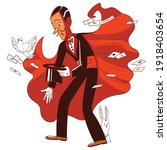 magician. funny cartoon... | Shutterstock .eps vector #1918403654