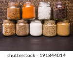 different variety of sugar and... | Shutterstock . vector #191844014