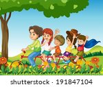 illustration of a happy family...   Shutterstock .eps vector #191847104