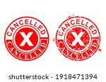 vector 2 style red circle rust... | Shutterstock .eps vector #1918471394