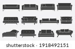 furniture for the bedroom and...   Shutterstock .eps vector #1918492151