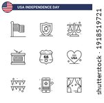 happy independence day 9 lines... | Shutterstock .eps vector #1918519721