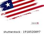 Stylish Brush Flag Of Liberia....