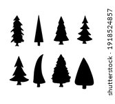 isolated pine on the white...   Shutterstock .eps vector #1918524857