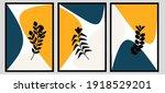 set three of bontanical flowers ... | Shutterstock .eps vector #1918529201