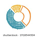 pie diagrams hand drawn icons.... | Shutterstock .eps vector #1918544504