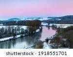 Dawn Over Danube River In...