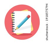 notebook with pencil icon....   Shutterstock .eps vector #1918575794