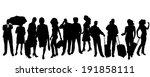 vector silhouette of business... | Shutterstock .eps vector #191858111