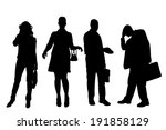 vector silhouette of business... | Shutterstock .eps vector #191858129