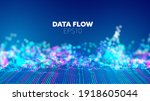 deep learning abstract vector... | Shutterstock .eps vector #1918605044