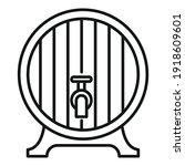 wood wine tap barrel icon.... | Shutterstock .eps vector #1918609601