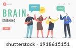 brain storming landing page... | Shutterstock .eps vector #1918615151