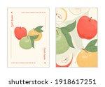 ripe fresh apples card design....   Shutterstock .eps vector #1918617251