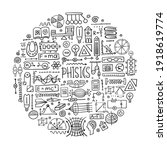 physics icons  sign and symbols.... | Shutterstock .eps vector #1918619774