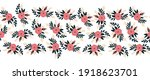 seamless vector border flat... | Shutterstock .eps vector #1918623701