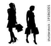 vector silhouette of a woman...   Shutterstock .eps vector #191863301