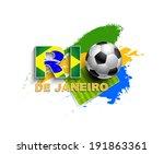 rio de janeiro graphic with... | Shutterstock .eps vector #191863361