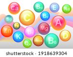 essential vitamin and mineral... | Shutterstock .eps vector #1918639304