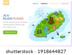 jeju island places landing page ... | Shutterstock .eps vector #1918644827
