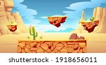 game platform cartoon desert...