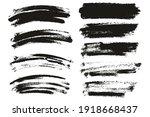 round sponge thin artist brush... | Shutterstock .eps vector #1918668437