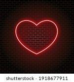 bright neon light. red neon...   Shutterstock .eps vector #1918677911