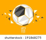 stylish soccer ball with... | Shutterstock .eps vector #191868275