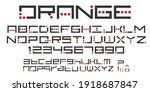 original alphabet uppercase ... | Shutterstock .eps vector #1918687847