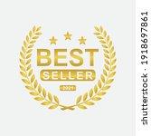 best seller badge icon logo... | Shutterstock .eps vector #1918697861