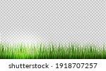 green grass border transparent... | Shutterstock .eps vector #1918707257