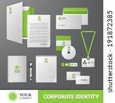 green geometric business... | Shutterstock .eps vector #191872385