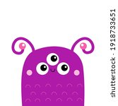 monster face head icon. happy...   Shutterstock .eps vector #1918733651